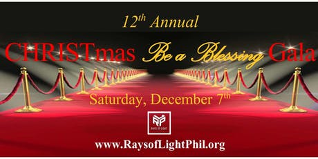 """2019 CHRISTmas """"Be a Blessing"""" Gala tickets"""