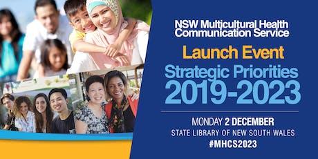 Launch of MHCS Strategic Priorities 2019 - 2023 tickets