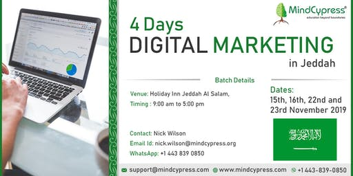 Digital Marketing 4 Days Training by MindCypress at Jeddah