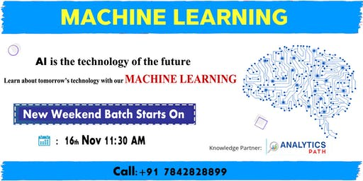 Enroll For New Weekend Batch On Machine Learning By Analytics Path in Hyd.