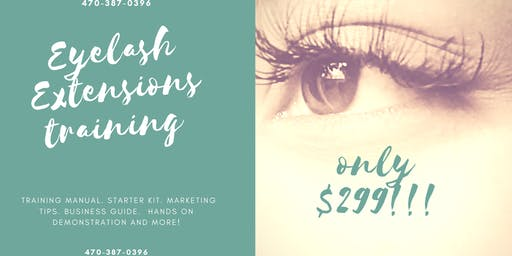 $299 Eyelash Extension Training