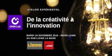 Atelier OpenLab - De la créativité à l'innovation billets