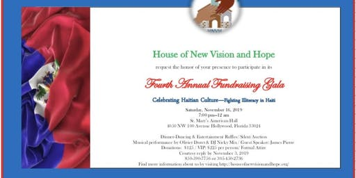 4th Annual Fighting Illiteracy in Haiti Fundraiser by HNVH
