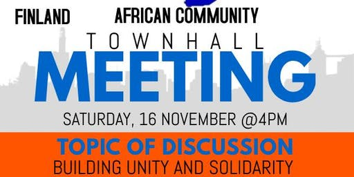 Africans and People of African descent in Finland community town hall meeting
