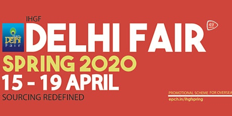 IHGF Delhi Fair Spring 2020 tickets