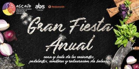 Gran Fiesta Anual de los cocineros, sumilleres y restauración de Baleares entradas