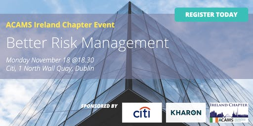 Better Risk Management - CPD Event