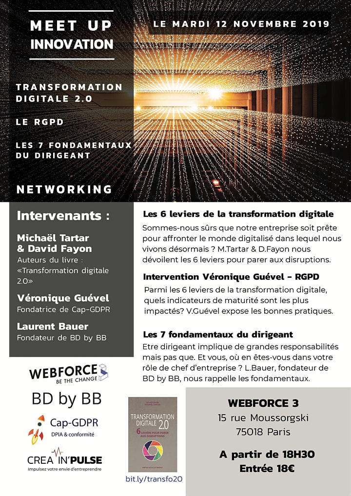 Image pour Les After-Work Créa In'Pulse Transformation digitale-RGPD-Dirigeant