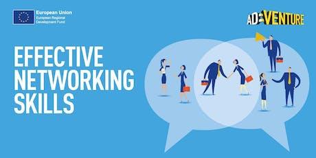 Adventure Business Workshop in Wakefield -  Effective Networking Skills tickets