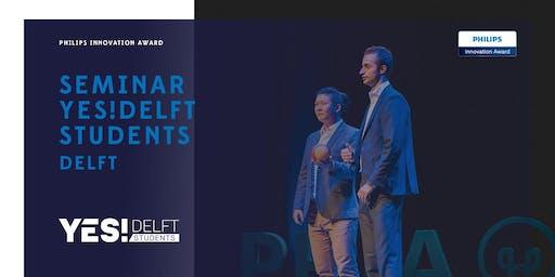 Seminar YES!Delft Student | Delft Entrepreneurship Week