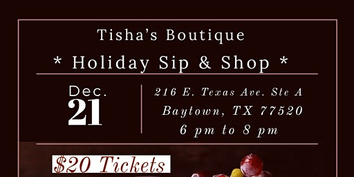 Tisha's Boutique Holiday Sip and Shop