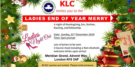 Ladies End of Year Xmas Party tickets