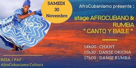 "Marseille ""Canto y Baile"" Stage afro-cubain et Rumba billets"