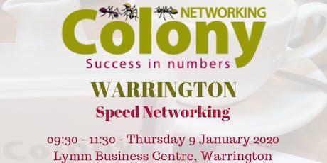 Colony Speed Networking (Warrington) - 9 Jan 2020 tickets