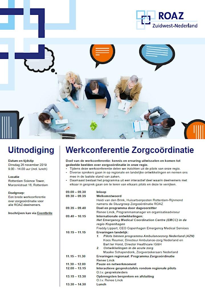 Afbeelding van Werkconferentie zorgcoördinatie 26-11-2019