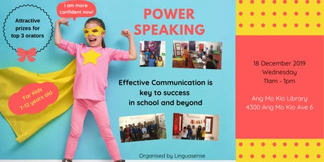 Power Speaking for Kids tickets
