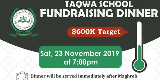 Taqwa School Fundraising Dinner