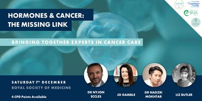 Hormones and Cancer: The Missing Link Sat 7th Dec,1pm London