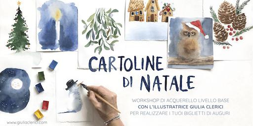 Cartoline di Natale - workshop di acquerello per principianti