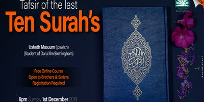Tafsir of the last Ten Surah's
