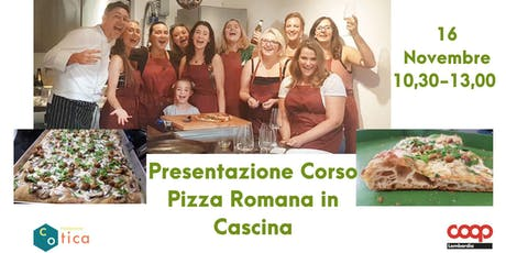 Presentazione corso Pizza Romana biglietti