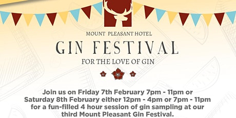 Mount Pleasant Gin Festival - Saturday Night tickets