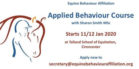 Applied Behaviour Course (Equine) tickets