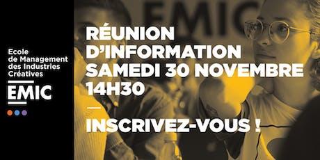 Réunion d'information EMIC Paris billets