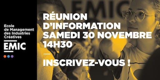 Réunion d'information EMIC Paris