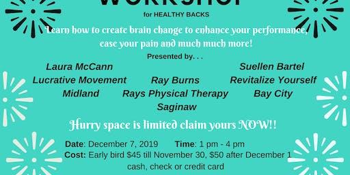 Workshop for Healthy Back Spine and Pelvis