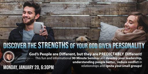 Discover the Strength of Your God Given Personalities (DISC) Workshop