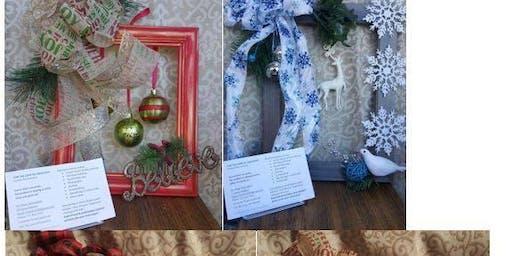 Picture Frame Wreath Workshop