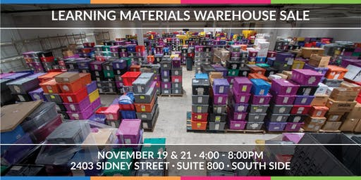 Learning Materials Warehouse Sale