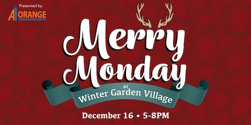 Merry Monday - Santa and Reindeer at Winter Garden Village