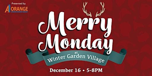 Merry Monday - Santa and Reindeer at Winter Garden Village
