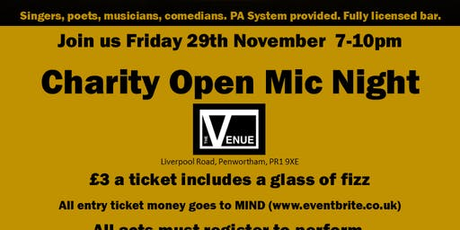 Charity Open Mic Night for MIND