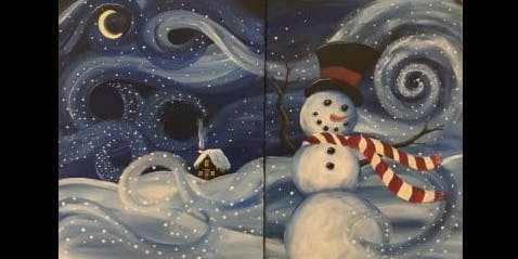 Couples Paint...or Painter's Choice...Snowy Night