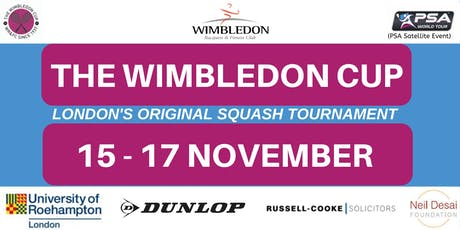 The Wimbledon Cup 2019 - Professional Squash Satellite Tour Event tickets