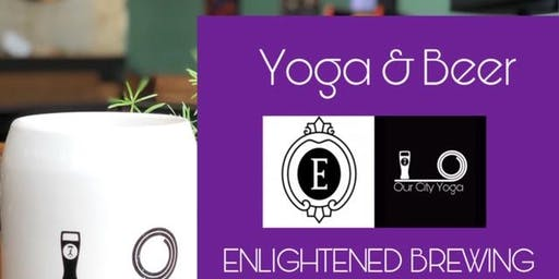 Yoga and Beer at Enlightened Brewing Co.