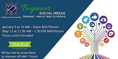 1.Beginner Social Media Training – Min 10 / Max 20 People tickets