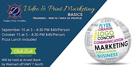 Video  & Print Marketing Basics - Canceled tickets