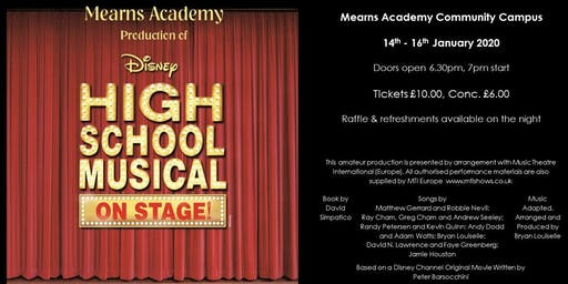 Mearns Academy Production of High School Musical
