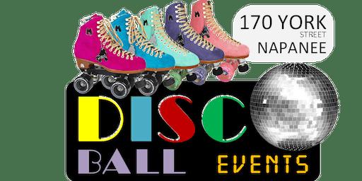 ROLLER SKATING at DISCO BALL events