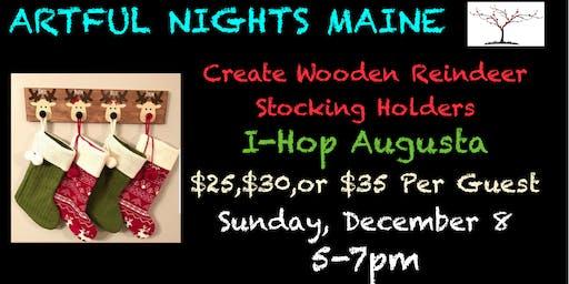 Wooden Reindeer Stocking Holder at I-Hop Augusta