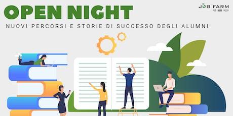 Open Night: serata di presentazione Master con workshop gratuiti  biglietti