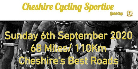 Cheshire Cycling Sportive 2020 - 6th September Knutsford billets