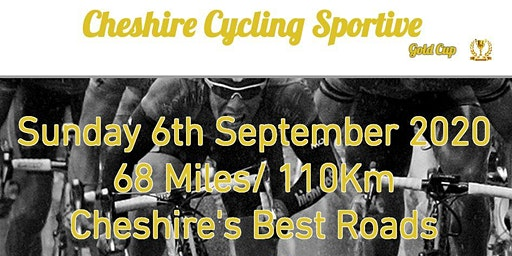 Cheshire Cycling Sportive 2020 - 6th September Knutsford