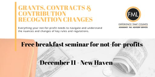 Grants, Contracts & Contribution Recognition Changes - New Haven