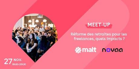 Meetup : Réforme des retraites, quels impacts pour les freelances ? billets
