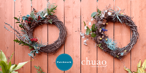 Patchwork + Chuao Presents Christmas.. or Not Airplant Wreaths